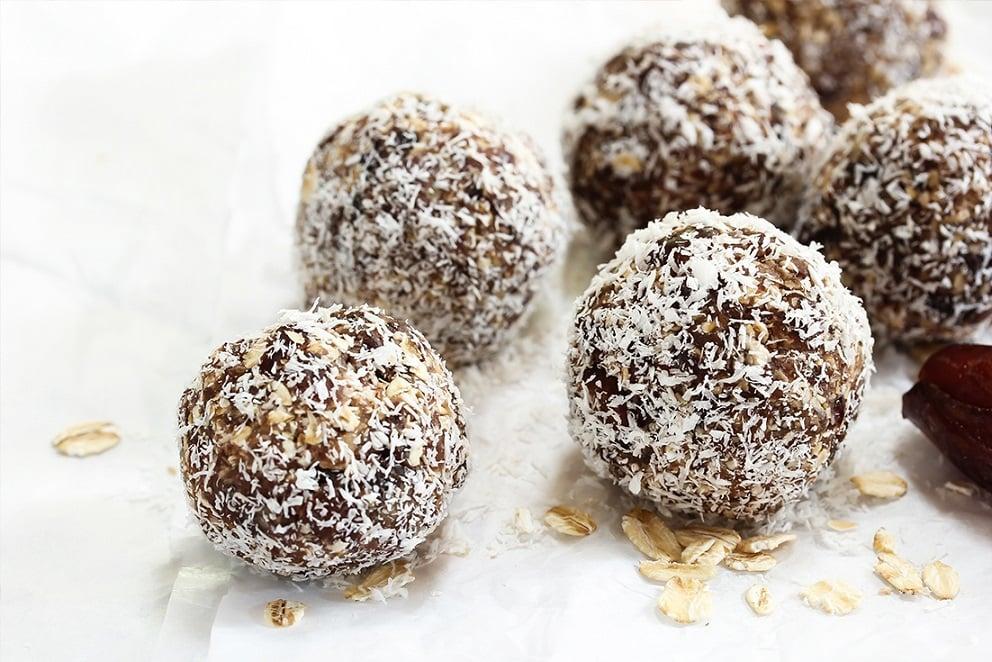Receta de bocadillos cubiertos de coco