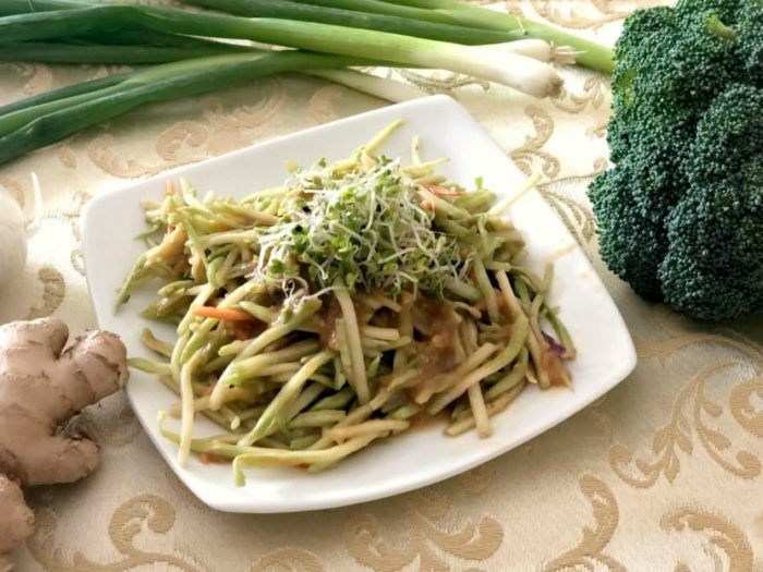asian broccoli super slaw recipe image
