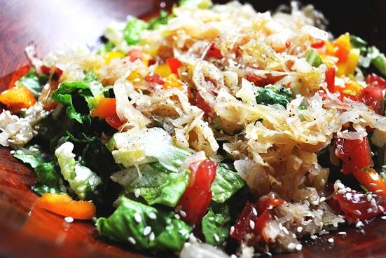 receta de ensalada de comida entera