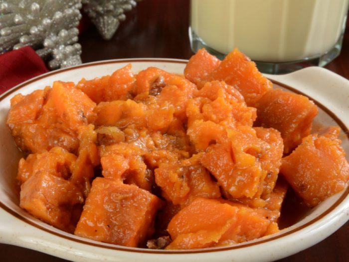 orange candied maple yams