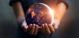 Earth inside hands