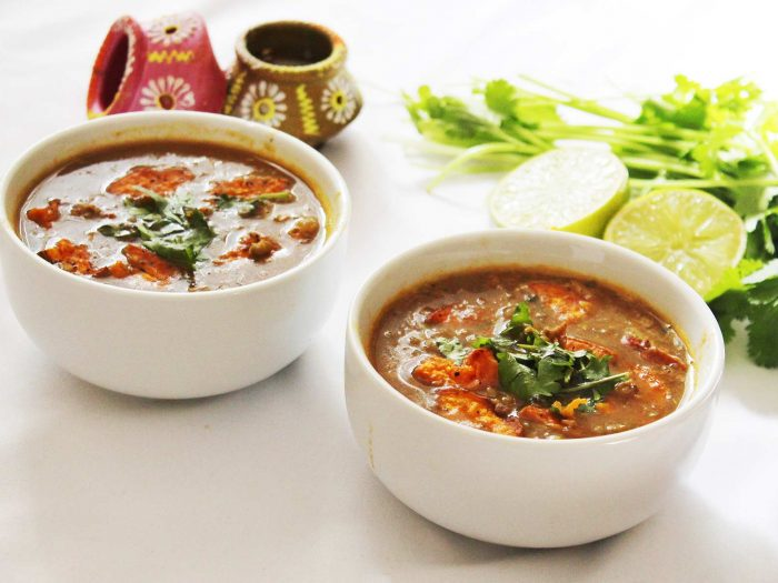 Mung Beans with Veggies Soup