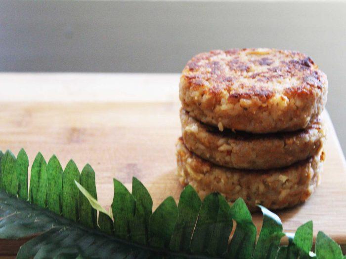 hamburguesas de arroz y tahini