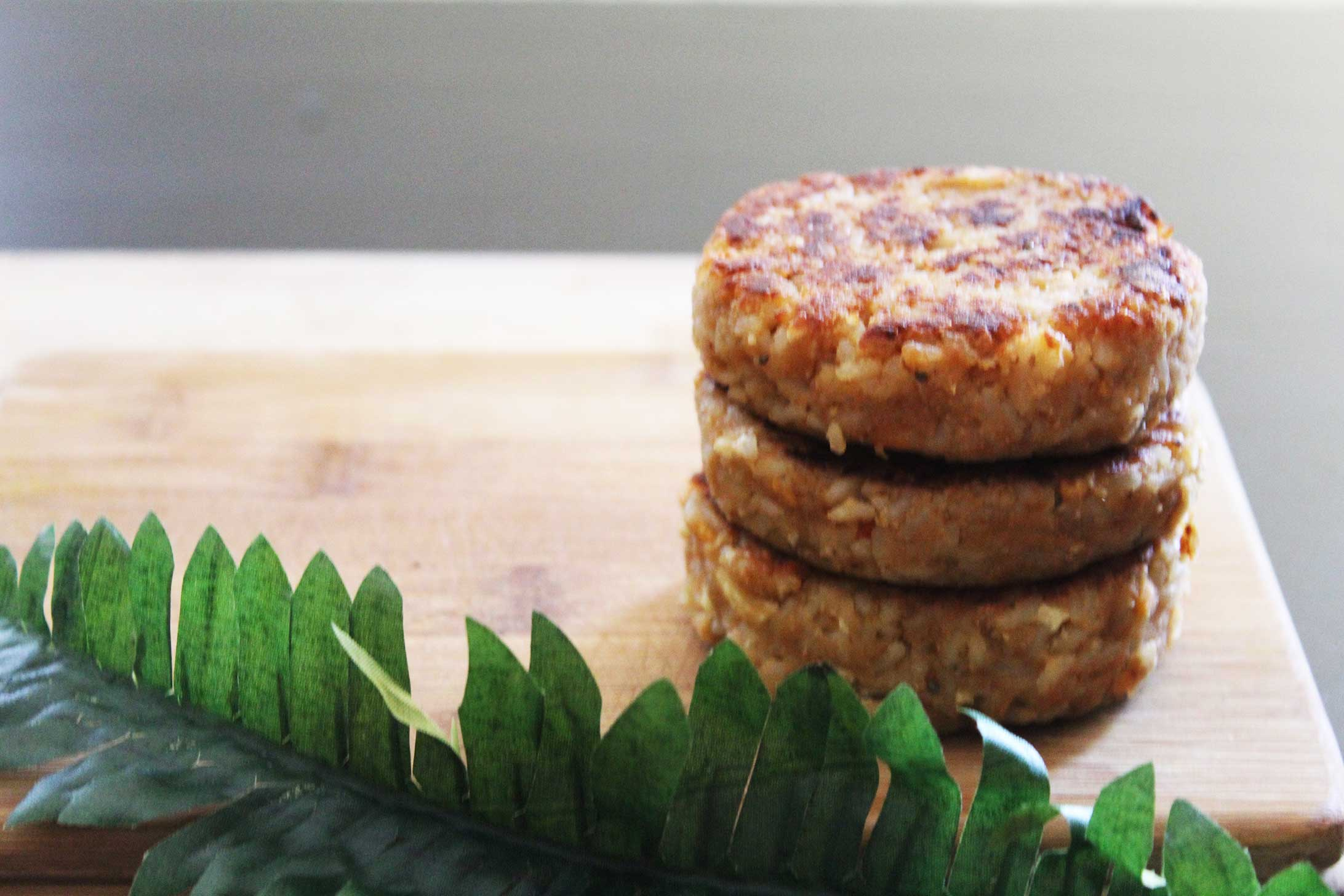 rice and tahini burgers