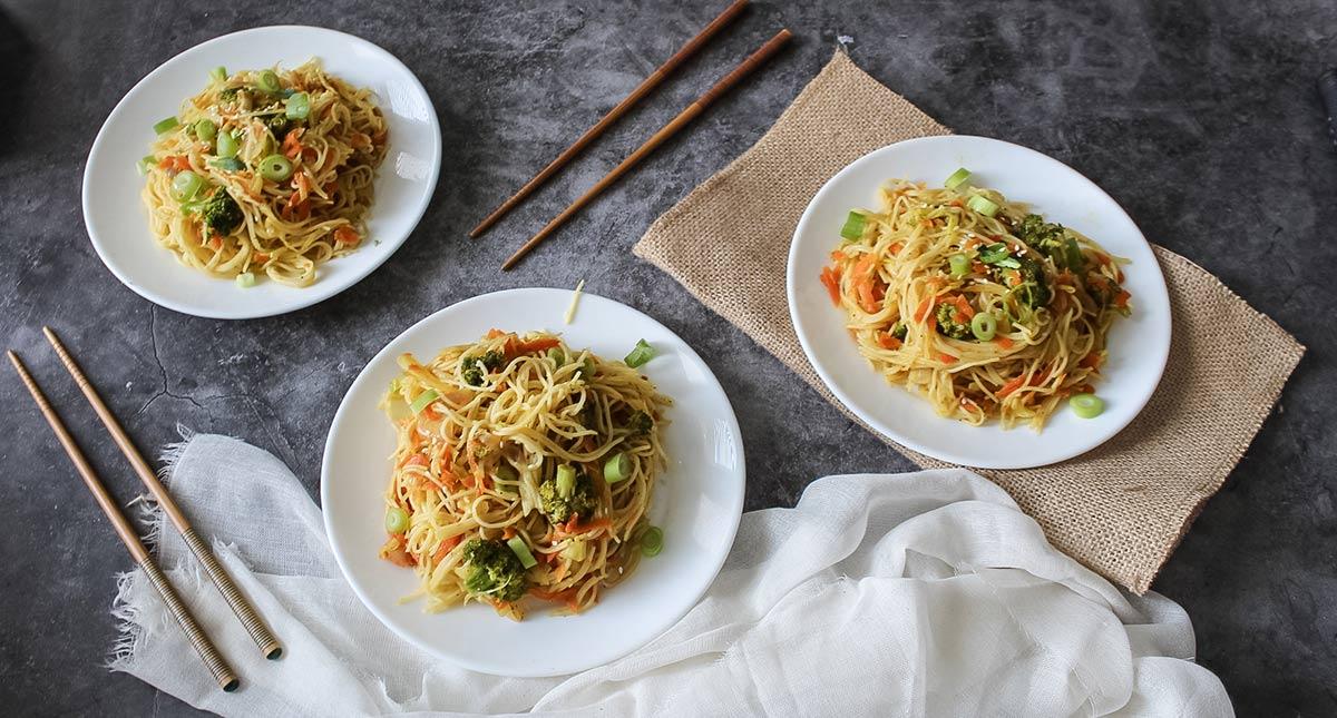 Vegetales-chow-mein