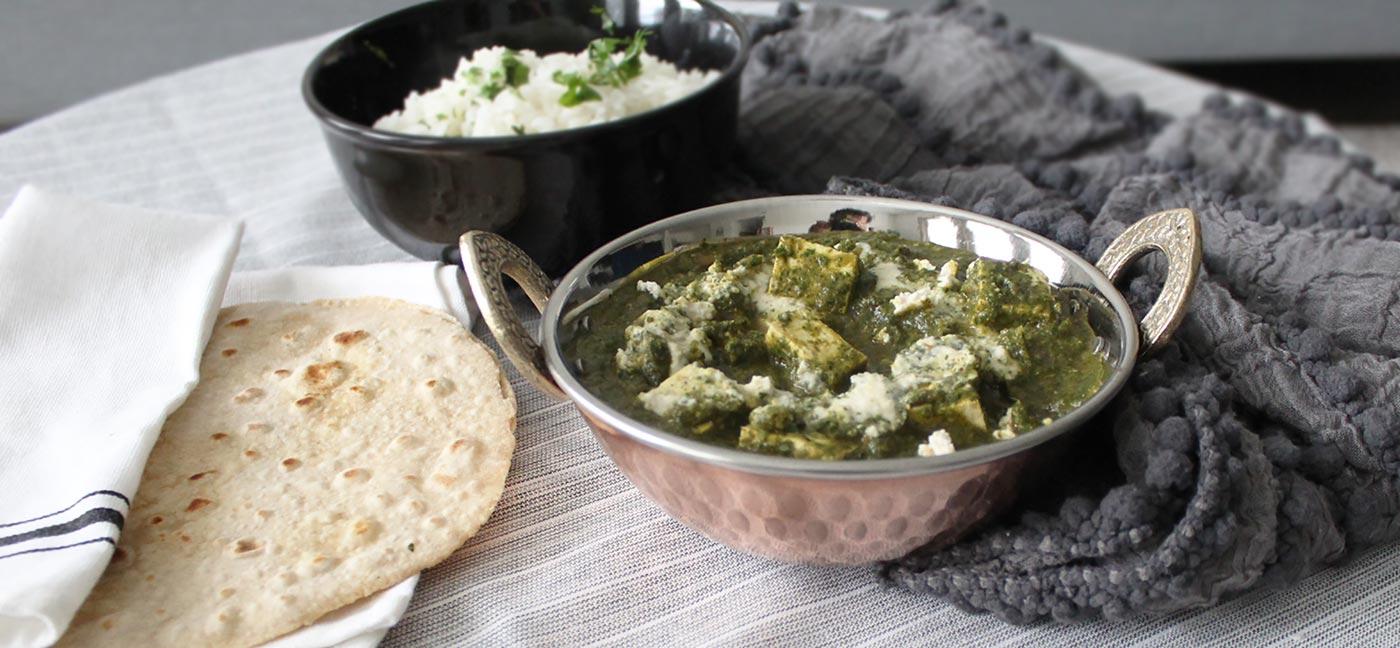 Saag-Paneer- (Veganizado)