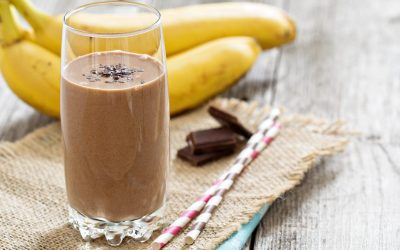 Chocolate Banana Almond Smoothie