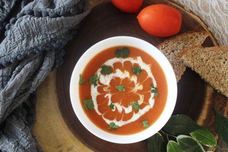 Sopa De Crema De Tomate