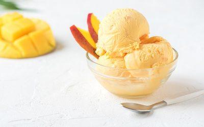 Receta de yogurt de mango congelado