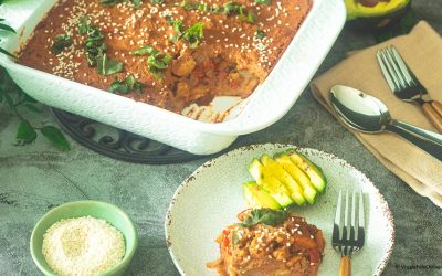 Mexican-Enchilada-Pie-with-Mole-Sauce
