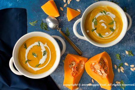 Sopa de zanahoria y calabaza de otoño de mamá