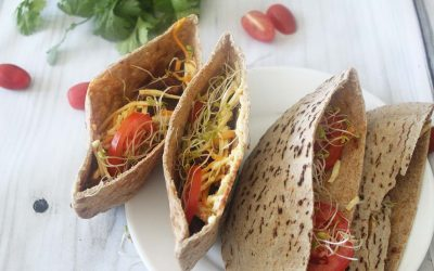 Smashed Bean Pita Sandwiches recipe