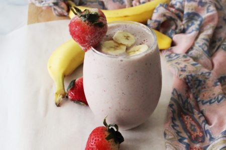 Strawberry-Banana-Smootie