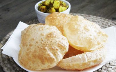 Whole wheat puris
