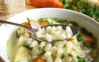 Sopa de cebada y vegetales