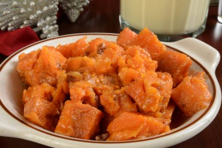 orange candied maple yams
