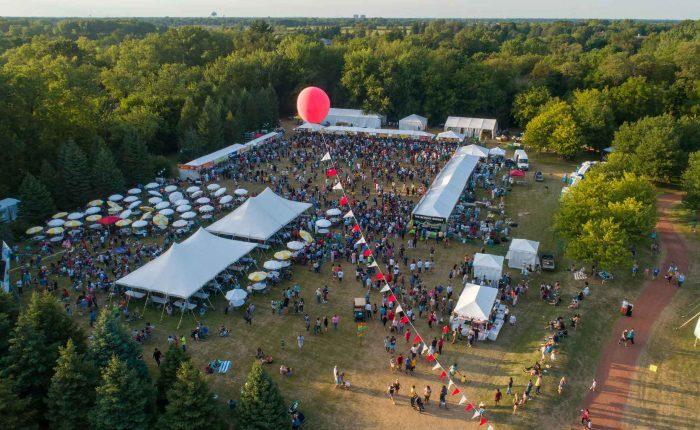 veggie fest 2019 drone view